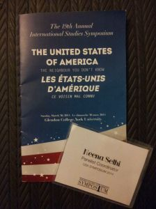USA Symposium 2014 Program and Name Tag for Neena Sethi