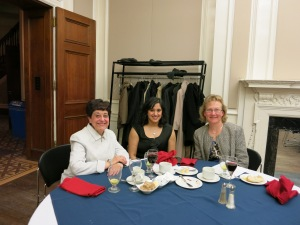 Picture of Rosanna Furgiuele, Neena Sethi, Susan Bibler Coutin at Symposium Dinner