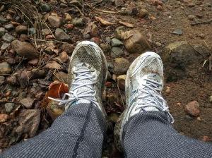 Mes pieds après la randonnée à Cap Trinité